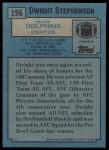1988 Topps #196  Dwight Stephenson  Back Thumbnail