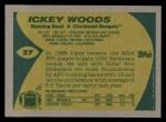 1989 Topps #27  Ickey Woods  Back Thumbnail