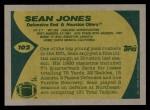 1989 Topps #102  Sean Jones  Back Thumbnail