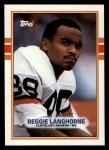 1989 Topps #144  Reggie Langhorne  Front Thumbnail