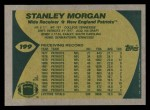 1989 Topps #199  Stanley Morgan  Back Thumbnail