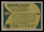 1989 Topps #202  Marvin Allen  Back Thumbnail