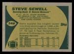 1989 Topps #246  Steve Sewell  Back Thumbnail