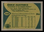 1989 Topps #268  Mike Haynes  Back Thumbnail