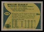 1989 Topps #272  Willie Gault  Back Thumbnail