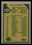 1989 Topps #336   Falcons Leaders Back Thumbnail