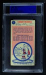 1969 Topps #3  Cazzie Russell  Back Thumbnail