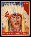 1947 Goudey Indian Gum #92   Chief White Cloud Front Thumbnail