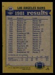 1982 Topps #369   Rams Leaders Back Thumbnail