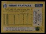 1982 Topps #436  Brad Van Pelt  Back Thumbnail
