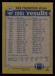 1982 Topps #477   49ers Leaders Back Thumbnail