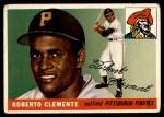 1955 Topps #164  Roberto Clemente  Front Thumbnail