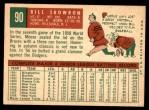 1959 Topps #90  Bill Skowron  Back Thumbnail