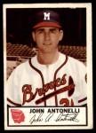 1953 Johnston Cookies #2  John Antonelli  Front Thumbnail