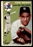 1954 Topps #50 WHT Yogi Berra  Front Thumbnail