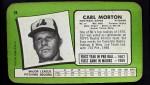 1971 Topps Super #28  Carl Morton  Back Thumbnail