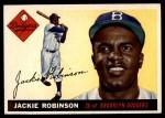 1955 Topps #50  Jackie Robinson  Front Thumbnail