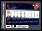 2003 Topps #165  Brian Griese  Back Thumbnail