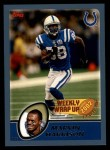 2003 Topps #305   -  Marvin Harrison Weekly Wrap-Up Front Thumbnail