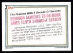 1992 Topps #3   -  Jeff Reardon Record Breaker Back Thumbnail