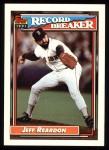 1992 Topps #3   -  Jeff Reardon Record Breaker Front Thumbnail
