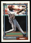 1992 Topps #14  Wes Chamberlain  Front Thumbnail