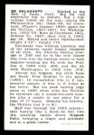 1950 Callahan Hall of Fame  Ed Delahanty  Back Thumbnail