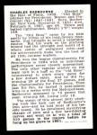 1950 Callahan Hall of Fame  Charles Radbourne  Back Thumbnail