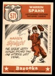 1959 Topps #571   -  Warren Spahn All-Star Back Thumbnail