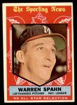 1959 Topps #571   -  Warren Spahn All-Star Front Thumbnail