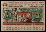 1956 Topps #299  Charlie Neal  Back Thumbnail