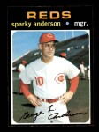 1971 Topps #688  Sparky Anderson  Front Thumbnail