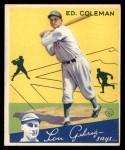 1934 Goudey #28  Ed Coleman  Front Thumbnail
