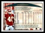 1998 Topps #71  James Hasty  Back Thumbnail