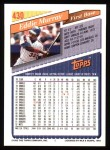 1993 Topps #430  Eddie Murray  Back Thumbnail
