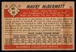 1953 Bowman #35  Mickey McDermott  Back Thumbnail