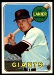 1969 Topps #316  Hal Lanier  Front Thumbnail