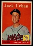 1958 Topps #367  Jack Urban  Front Thumbnail