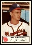 1953 Johnston Cookies #5  Lew Burdette   Front Thumbnail
