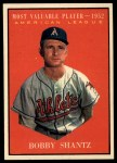 1961 Topps #473   -  Bobby Shantz Most Valuable Player Front Thumbnail